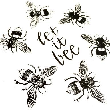 Let I Bee - Lino Print